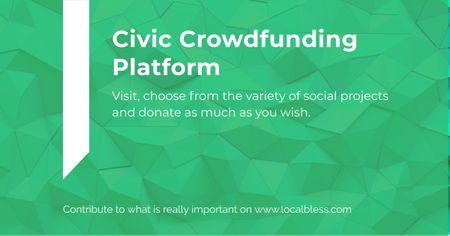 Modèle de visuel Civic Crowdfunding Platform - Facebook AD