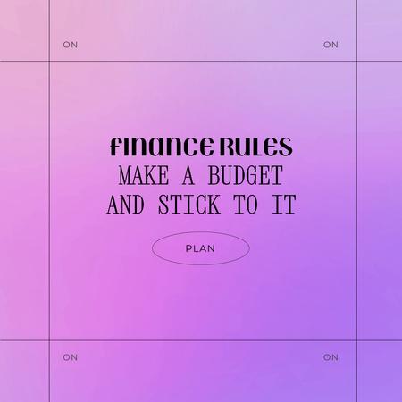 Modèle de visuel Financial Budget Planning Motivation - Animated Post