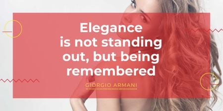 Szablon projektu Citation about Elegance being remembered Image