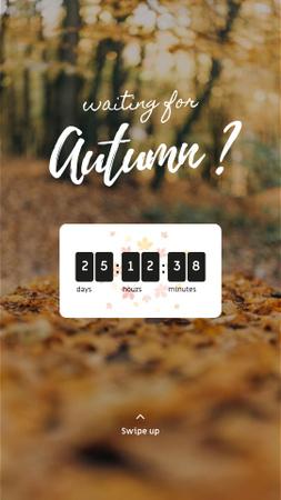 Autumn Inspiration with Golden Foliage Instagram Story Modelo de Design