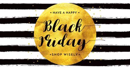 Black Friday Sale Bright Announcement Facebook AD Modelo de Design