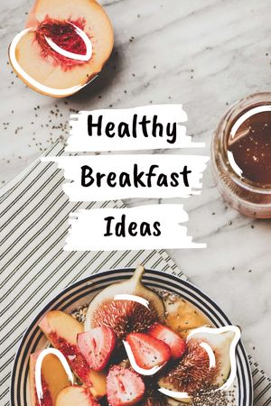Template di design Healthy Breakfast with berries Tumblr