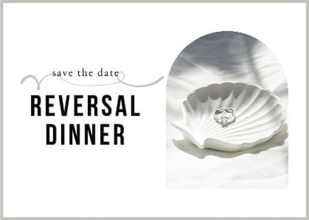 Template di design Reversal Dinner Announcement with Wedding Ring in Seashell Card
