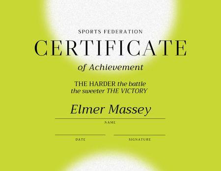 Modèle de visuel Achievement Confirmation with Inspirational Citation - Certificate