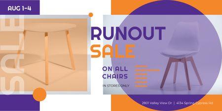 Plantilla de diseño de Furniture Offer White Chair and Table Image