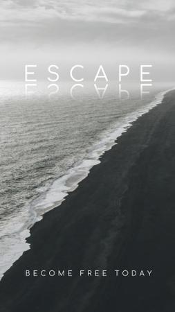 Template di design Inspiration with Strong Ocean Waves Instagram Story