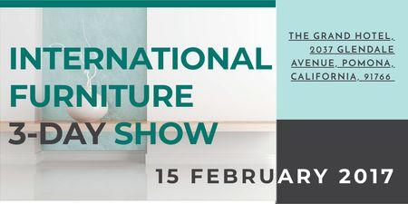 Szablon projektu International furniture show Twitter