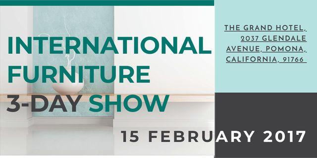 Template di design International furniture show Twitter