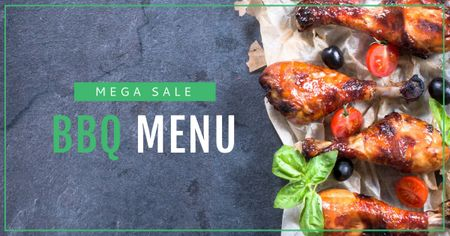 Template di design Sale Offer with Barbecue Facebook AD