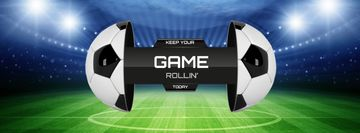 Football Match announcement on Stadium