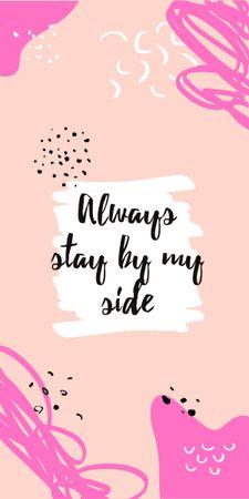 Motivational Quote on pink Graphic Modelo de Design