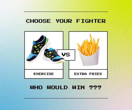 Plantilla de diseño de Funny Joke about Healthy Lifestyle Facebook