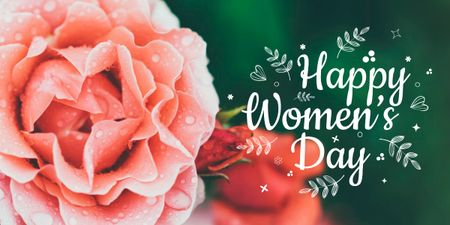 Women's day greeting with Roses Imageデザインテンプレート