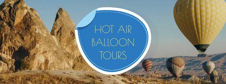 Designvorlage Hot Air Balloon Flight Offer für Facebook cover