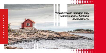 Small cabin by seacoast Image – шаблон для дизайна