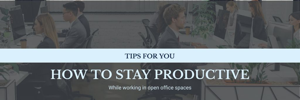 Productivity Tips Colleagues Working in Office Twitterデザインテンプレート