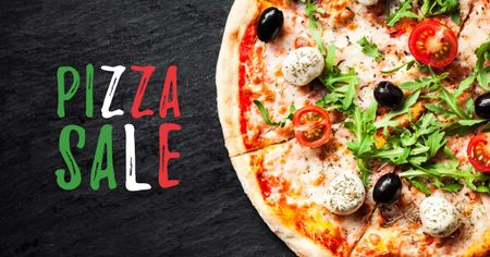 Modèle de visuel Delicious Italian pizza sale - Facebook AD