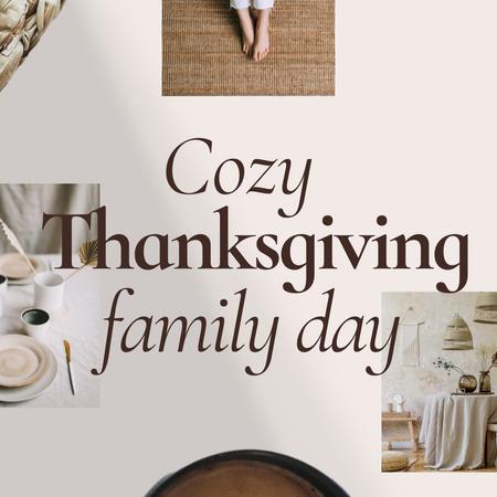 Thanksgiving Instagram – шаблон для дизайну