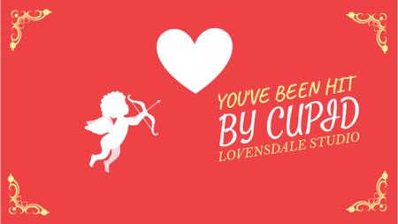 Plantilla de diseño de Cupid shooting in Valentine's Day Heart Full HD video