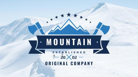Journey Offer with Mountains Icon in Blue Youtube Modelo de Design