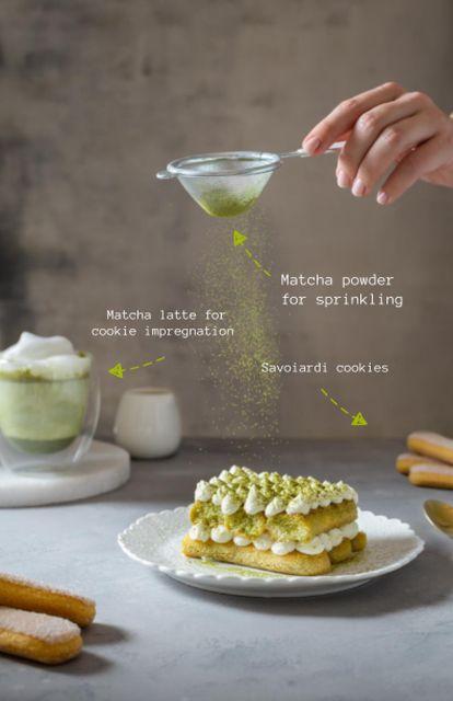 Delicious Cake with Matcha Recipe Card – шаблон для дизайна