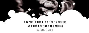 Faith Quote Hands Clasped in Prayer