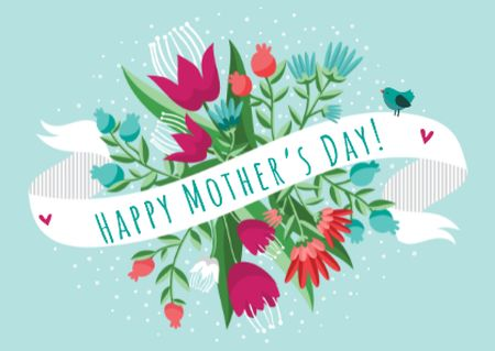 Ontwerpsjabloon van Card van Mother's day greeting