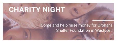 Szablon projektu Corporate Charity Night Facebook cover