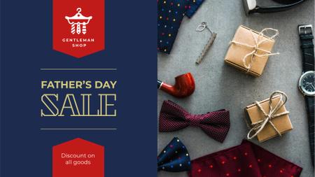 Plantilla de diseño de Stylish male accessories for Father's Day FB event cover