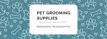 Sale of Pet supplies on Cute pattern
