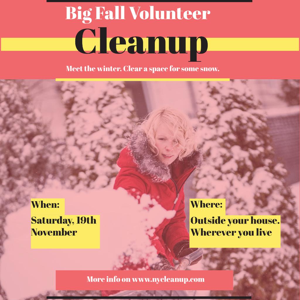 Winter Volunteer clean up — Crear un diseño