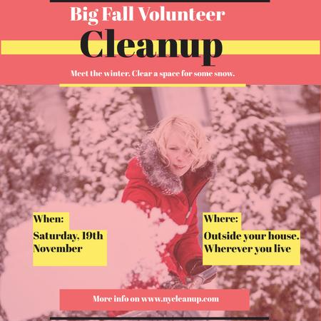 Winter Volunteer clean up Instagram Modelo de Design