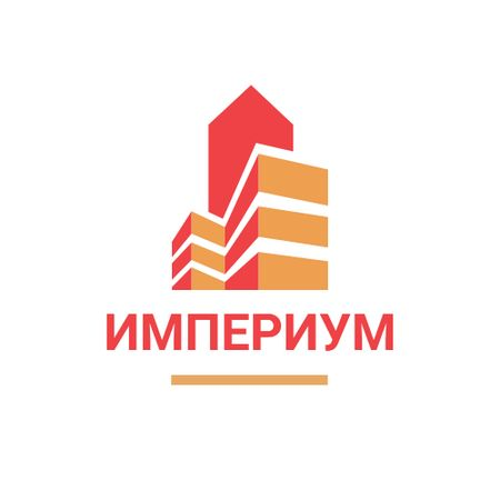 Real Estate Building Icon in Red Logo – шаблон для дизайна