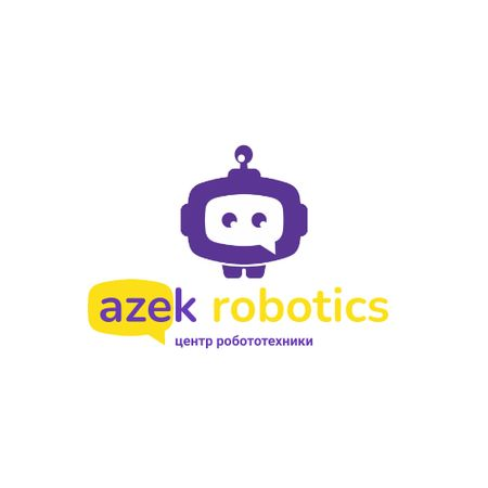 Robotics Center Ad with Cute Android Animated Logo – шаблон для дизайна