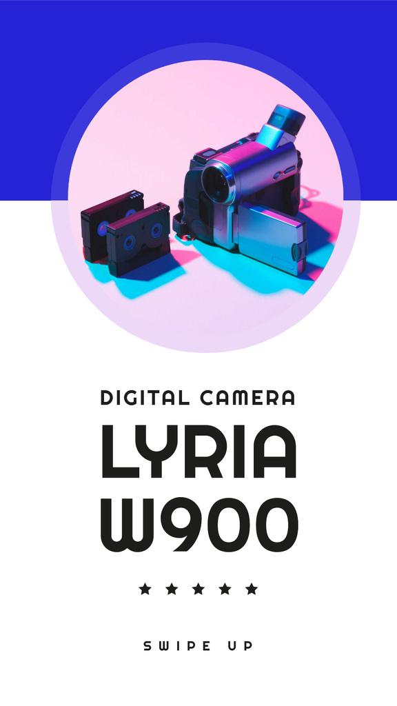 Plantilla de diseño de Digital Camera Sale Ad Instagram Story