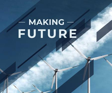 Szablon projektu Wind turbine towers Facebook