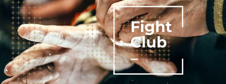 Plantilla de diseño de Fight Club Ad with Men fighting Facebook cover