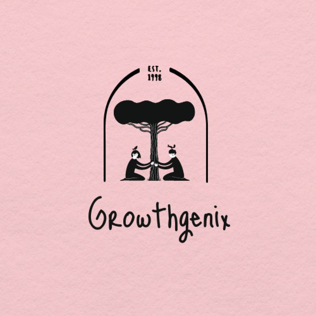 Illustration of People growing Tree Logo – шаблон для дизайну