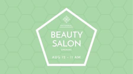 Template di design Beauty Salon Opening Announcement FB event cover