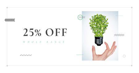 Eco Light Bulb with Leaves Facebook AD – шаблон для дизайна
