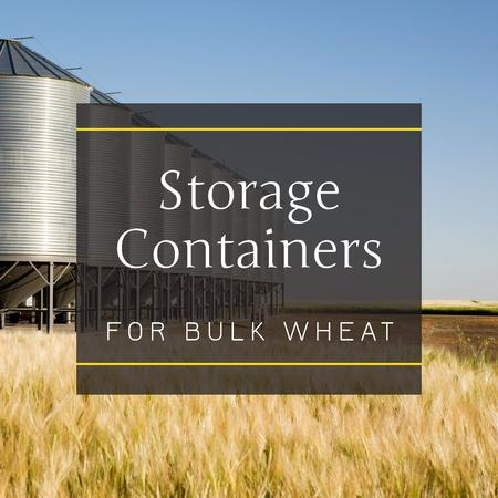 Storage containers in Wheat field Instagram – шаблон для дизайна