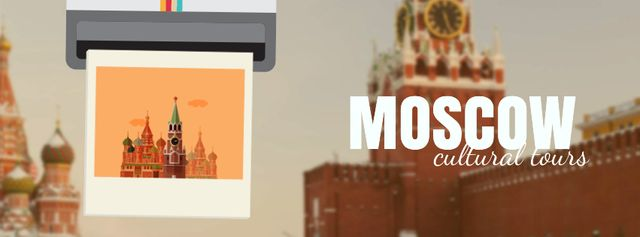 Designvorlage Moscow famous travelling spots für Facebook Video cover