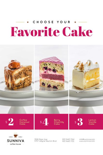 Szablon projektu Bakery Ad with Assortment of Sweet Cakes Tumblr