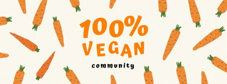 Vegan Lifestyle Concept with Carrots Facebook coverデザインテンプレート