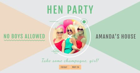Plantilla de diseño de Hen party for Girls Facebook AD