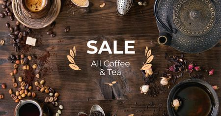 Coffee and Tea blends Offer Facebook ADデザインテンプレート