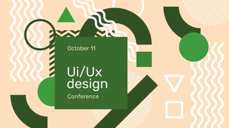Plantilla de diseño de Web Design Conference Announcement FB event cover