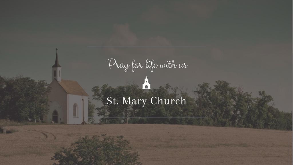 Pray Invitation with Church — Create a Design