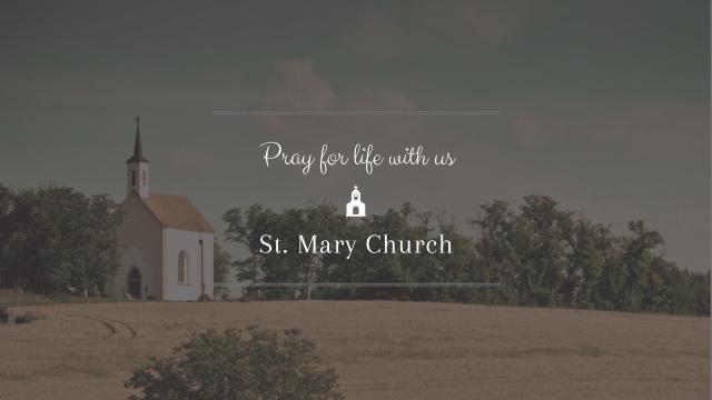 Plantilla de diseño de Pray Invitation with Church Youtube