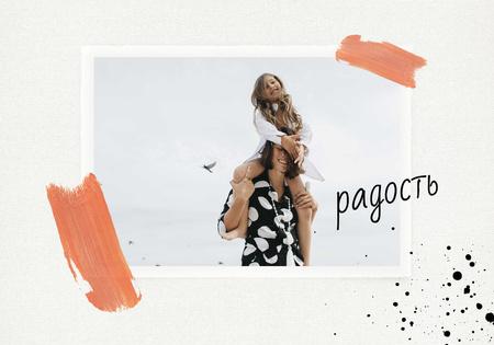 Plantilla de diseño de Woman holding Happy Child VK Universal Post